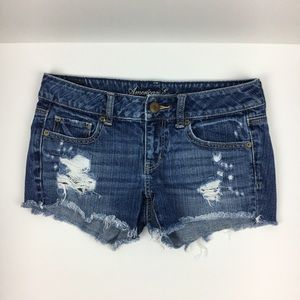 American Eagle Outfitters Shorts - American Eagle Distressed Cutoff Denim Jean Shorts